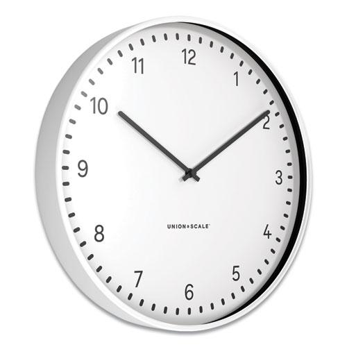"""Essentials Contemporary Round Wall Clock, 15"""" Overall Diameter, White Case, 1 AA (Sold Separately). Picture 2"""