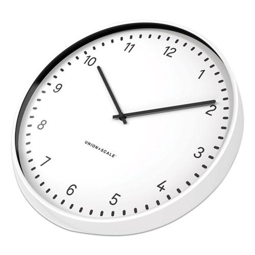 """Essentials Contemporary Round Wall Clock, 15"""" Overall Diameter, White Case, 1 AA (Sold Separately). Picture 3"""