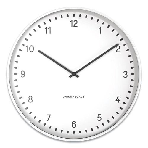 """Essentials Contemporary Round Wall Clock, 15"""" Overall Diameter, White Case, 1 AA (Sold Separately). Picture 1"""