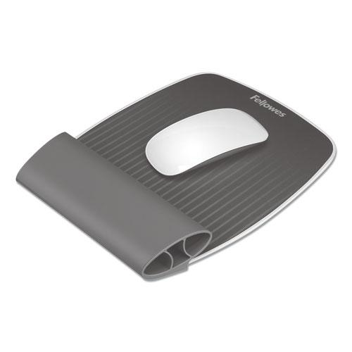 """I-Spire Wrist Rocker Mouse Pad with Wrist Rest, 7.81"""" x 10"""", Gray. Picture 1"""