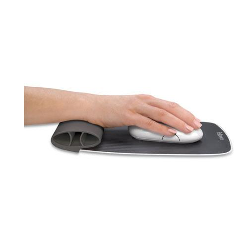 """I-Spire Wrist Rocker Mouse Pad with Wrist Rest, 7.81"""" x 10"""", Gray. Picture 3"""