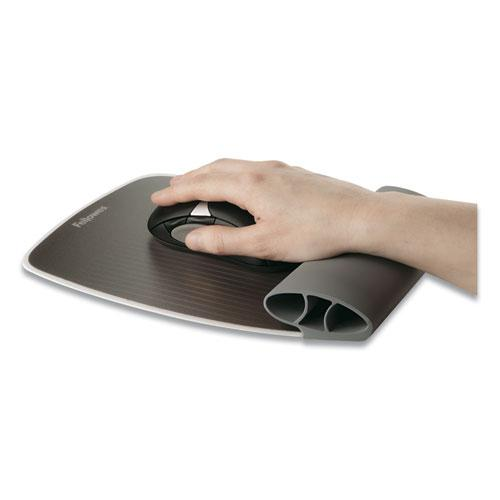 """I-Spire Wrist Rocker Mouse Pad with Wrist Rest, 7.81"""" x 10"""", Gray. Picture 4"""