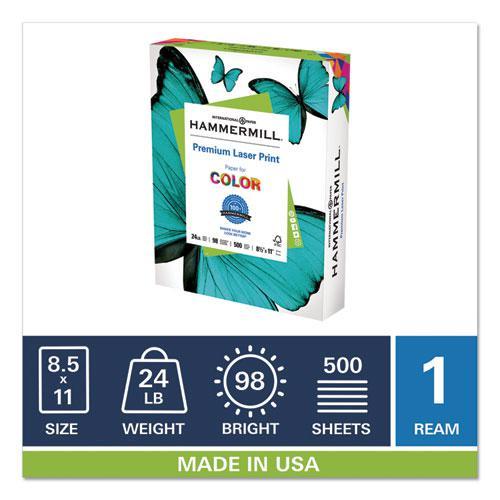 Premium Laser Print Paper, 98 Bright, 24lb, 8.5 x 11, White, 500/Ream. Picture 2