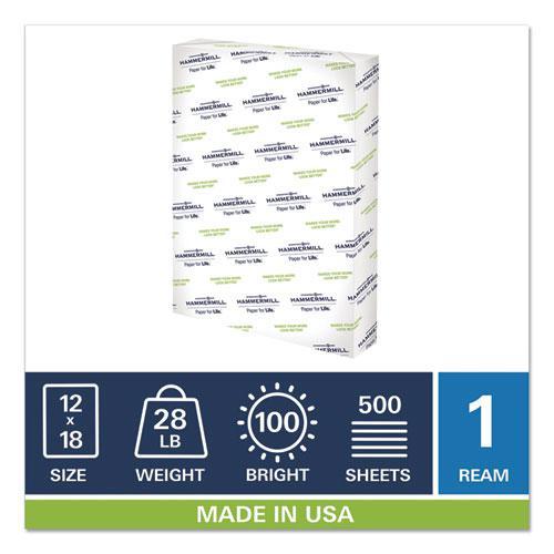 Premium Color Copy Print Paper, 100 Bright, 28lb, 12 x 18, Photo White, 500/Ream. Picture 5
