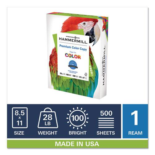 Premium Color Copy Print Paper, 100 Bright, 28lb, 8.5 x 11, Photo White, 500/Ream. Picture 5
