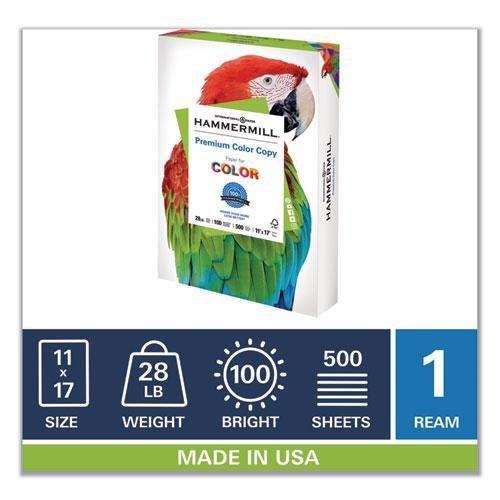 Premium Color Copy Print Paper, 100 Bright, 28lb, 11 x 17, Photo White, 500/Ream. Picture 3