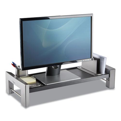 """Professional Series Flat Panel Workstation, 25.88"""" x 11.5"""" x 2.5"""" to 4.5"""", Black/Silver, Supports 40 lbs. Picture 3"""