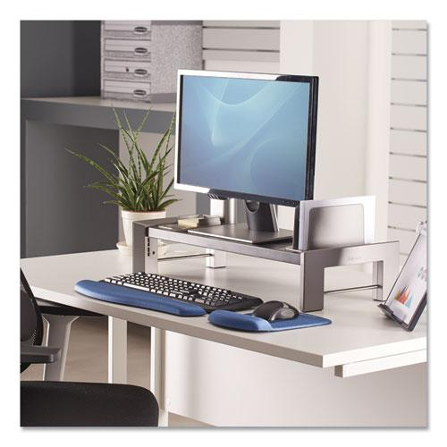 """Professional Series Flat Panel Workstation, 25.88"""" x 11.5"""" x 2.5"""" to 4.5"""", Black/Silver, Supports 40 lbs. Picture 2"""
