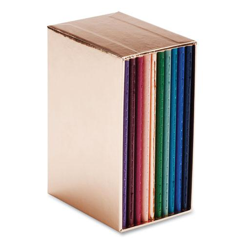 Mini Medley Professional Notebooks, Wide Rule, Assorted Jewel Tone, 5 x 3.5, 10/Pack. Picture 2