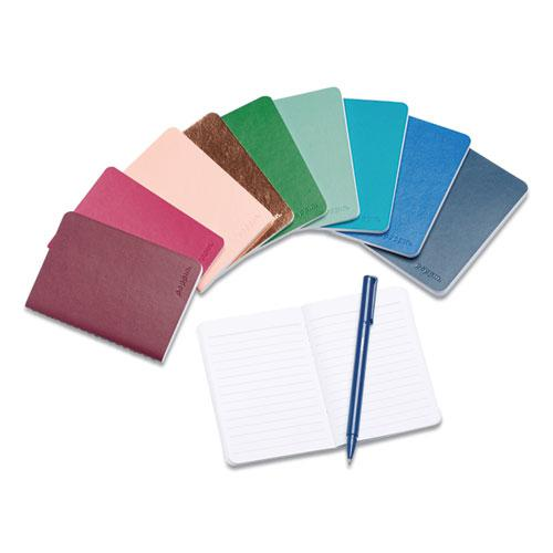 Mini Medley Professional Notebooks, Wide Rule, Assorted Jewel Tone, 5 x 3.5, 10/Pack. Picture 3