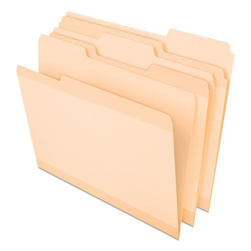 Poly Reinforced File Folder, 1/3-Cut Tabs, Letter Size, Manila, 24/Pack. Picture 1