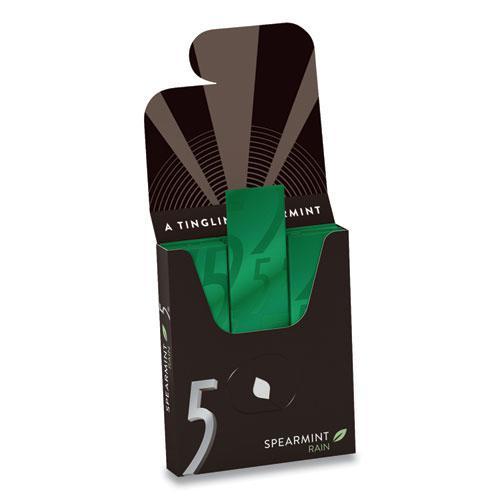 5 Gum, Spearmint Rain, 15 Sticks/Pack, 10 Packs/Box. Picture 2