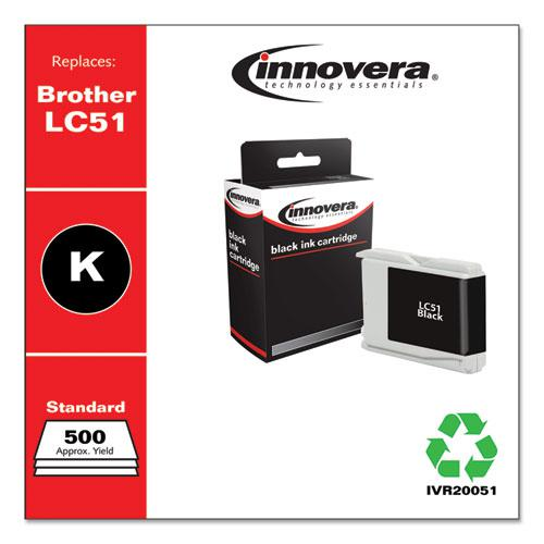 Remanufactured Black Ink, Replacement for Brother LC51BK, 500 Page-Yield. Picture 1