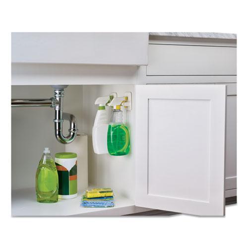 Spray Bottle Holder, 2.34 x 1.69 x 3.34, White, 2 Hangers/4 Strips/Pack. Picture 7