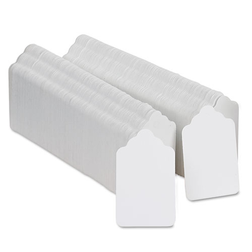 Refill Tags, 1 1/4 x 1 1/2, White, 1,000/Pack. Picture 2