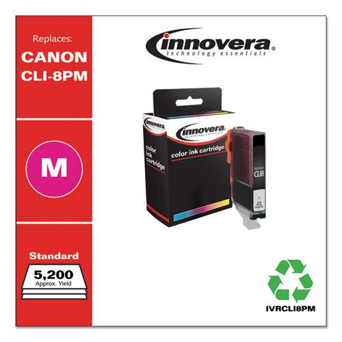 Remanufactured Photo Magenta Ink, Replacement for Canon CLI8PM (0625B002), 5,630 Page-Yield. Picture 2