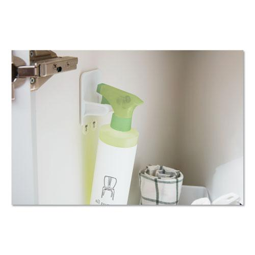 Spray Bottle Holder, 2.34 x 1.69 x 3.34, White, 2 Hangers/4 Strips/Pack. Picture 2