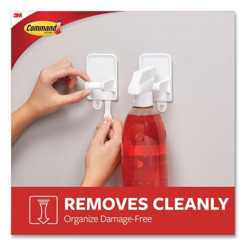 Spray Bottle Holder, 2.34 x 1.69 x 3.34, White, 2 Hangers/4 Strips/Pack. Picture 3