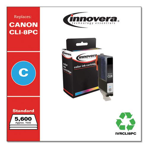 Remanufactured Photo Cyan Ink, Replacement for Canon CLI8PC (0624B002), 5,715 Page-Yield. Picture 2