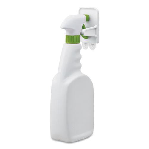 Spray Bottle Holder, 2.34 x 1.69 x 3.34, White, 2 Hangers/4 Strips/Pack. Picture 6