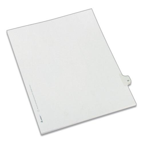 Preprinted Legal Exhibit Side Tab Index Dividers, Allstate Style, 10-Tab, 31, 11 x 8.5, White, 25/Pack. Picture 1