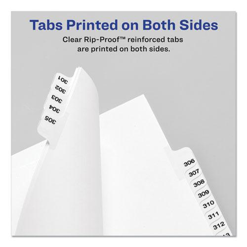 Preprinted Legal Exhibit Side Tab Index Dividers, Avery Style, 10-Tab, 2, 11 x 8.5, White, 25/Pack. Picture 3