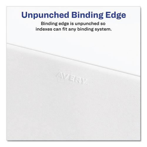 Preprinted Legal Exhibit Side Tab Index Dividers, Allstate Style, 26-Tab, W, 11 x 8.5, White, 25/Pack. Picture 4