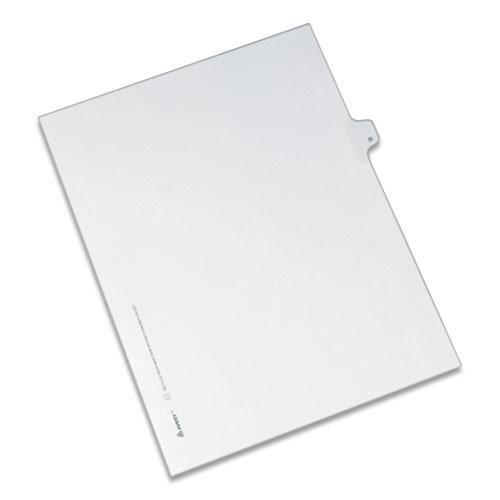 Preprinted Legal Exhibit Side Tab Index Dividers, Allstate Style, 26-Tab, R, 11 x 8.5, White, 25/Pack. Picture 1