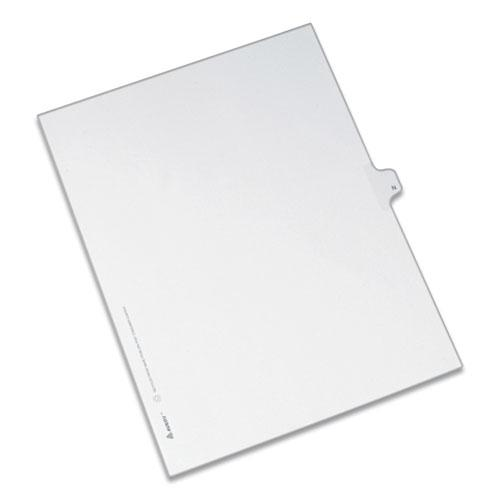 Preprinted Legal Exhibit Side Tab Index Dividers, Allstate Style, 26-Tab, N, 11 x 8.5, White, 25/Pack. Picture 1