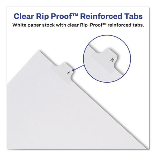Preprinted Legal Exhibit Side Tab Index Dividers, Allstate Style, 10-Tab, 18, 11 x 8.5, White, 25/Pack. Picture 3