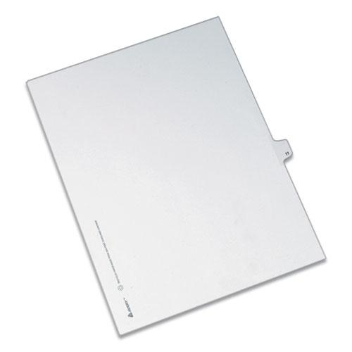 Preprinted Legal Exhibit Side Tab Index Dividers, Allstate Style, 10-Tab, 11, 11 x 8.5, White, 25/Pack. Picture 1