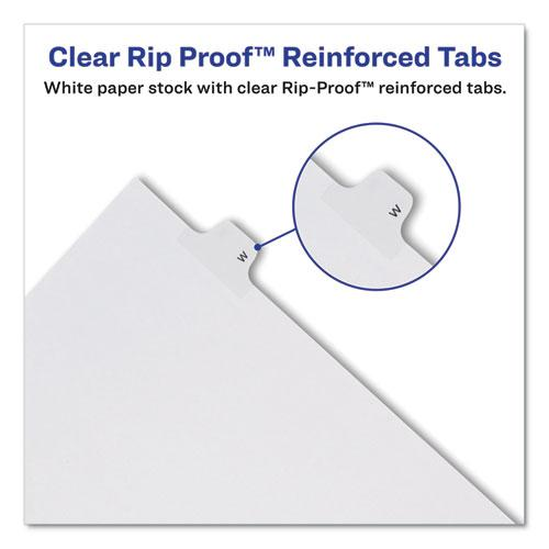Preprinted Legal Exhibit Side Tab Index Dividers, Allstate Style, 26-Tab, B, 11 x 8.5, White, 25/Pack. Picture 5