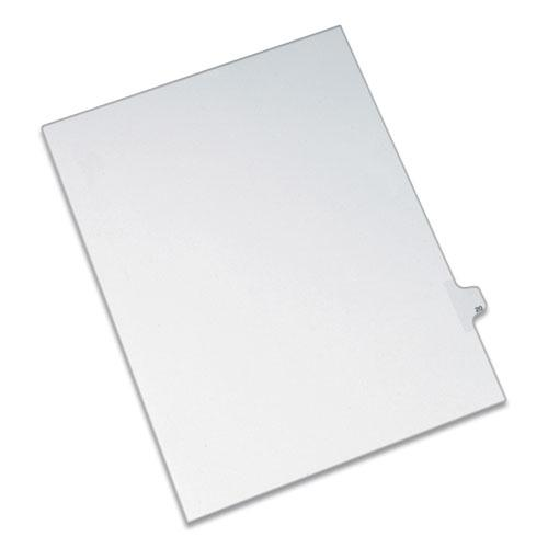 Preprinted Legal Exhibit Side Tab Index Dividers, Allstate Style, 10-Tab, 20, 11 x 8.5, White, 25/Pack. Picture 1