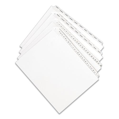 Preprinted Legal Exhibit Side Tab Index Dividers, Allstate Style, 10-Tab, 16, 11 x 8.5, White, 25/Pack. Picture 6