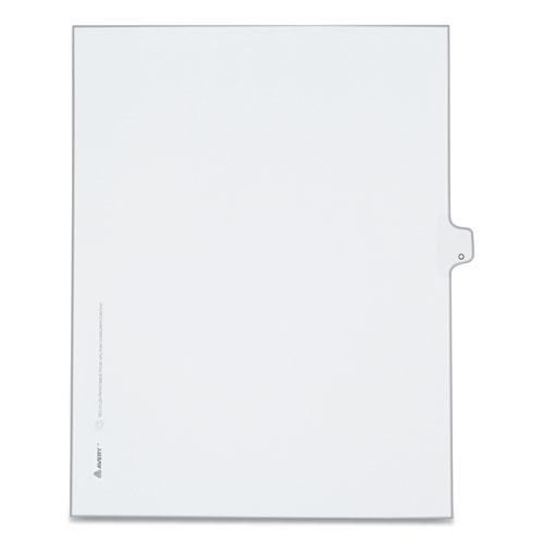 Preprinted Legal Exhibit Side Tab Index Dividers, Allstate Style, 26-Tab, O, 11 x 8.5, White, 25/Pack. Picture 1