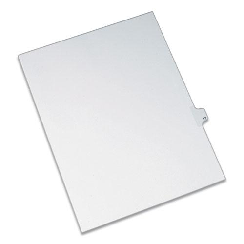 Preprinted Legal Exhibit Side Tab Index Dividers, Allstate Style, 10-Tab, 17, 11 x 8.5, White, 25/Pack. Picture 1