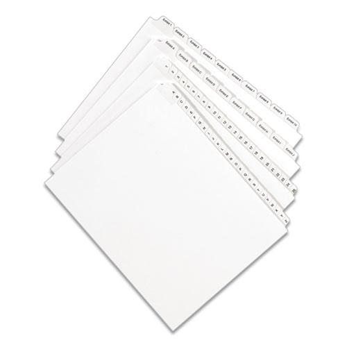 Preprinted Legal Exhibit Side Tab Index Dividers, Allstate Style, 26-Tab, W, 11 x 8.5, White, 25/Pack. Picture 2