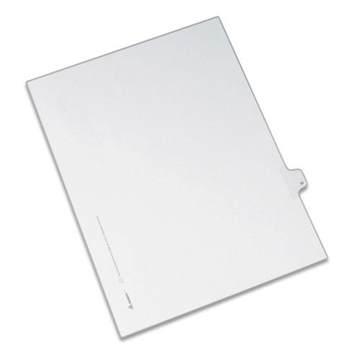 Preprinted Legal Exhibit Side Tab Index Dividers, Allstate Style, 26-Tab, H, 11 x 8.5, White, 25/Pack. Picture 1