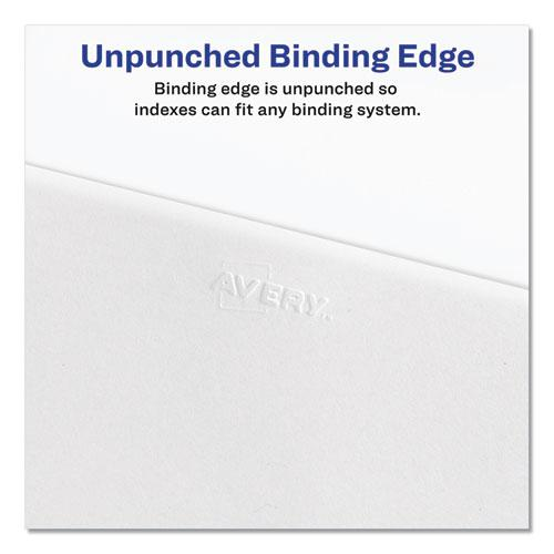 Preprinted Legal Exhibit Side Tab Index Dividers, Allstate Style, 25-Tab, 151 to 175, 11 x 8.5, White, 1 Set. Picture 3
