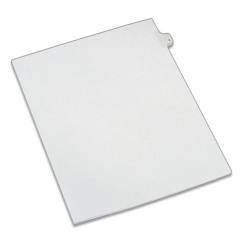 Preprinted Legal Exhibit Side Tab Index Dividers, Allstate Style, 10-Tab, 4, 11 x 8.5, White, 25/Pack. Picture 1