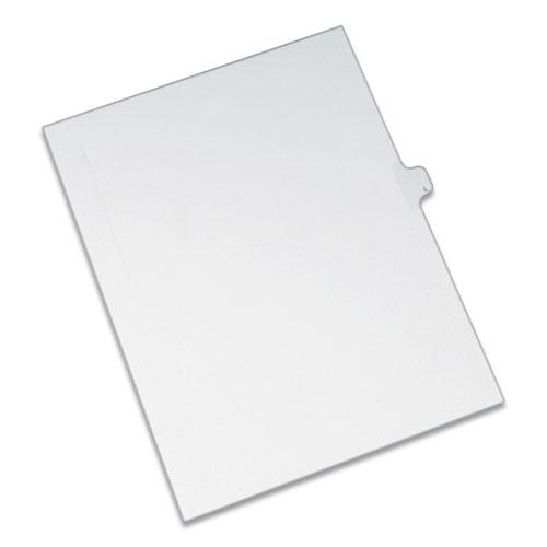 Preprinted Legal Exhibit Side Tab Index Dividers, Allstate Style, 26-Tab, L, 11 x 8.5, White, 25/Pack. Picture 1