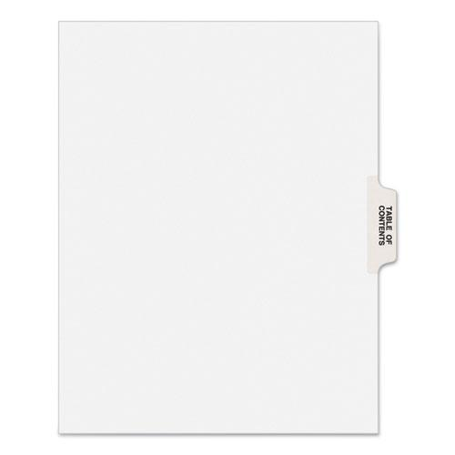 Preprinted Legal Exhibit Side Tab Index Dividers, Avery Style, 25-Tab, Table Of Contents, 11 x 8.5, White, 25/Pack. Picture 1