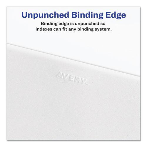 Preprinted Legal Exhibit Side Tab Index Dividers, Allstate Style, 25-Tab, 101 to 125, 11 x 8.5, White, 1 Set, (1705). Picture 5