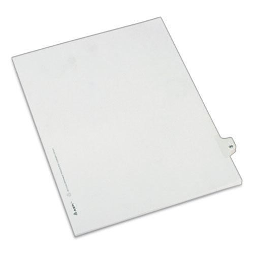 Preprinted Legal Exhibit Side Tab Index Dividers, Allstate Style, 10-Tab, 30, 11 x 8.5, White, 25/Pack. Picture 1