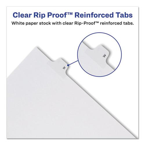 Preprinted Legal Exhibit Side Tab Index Dividers, Allstate Style, 26-Tab, W, 11 x 8.5, White, 25/Pack. Picture 5