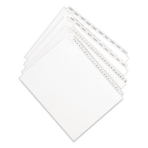 Preprinted Legal Exhibit Side Tab Index Dividers, Allstate Style, 10-Tab, 20, 11 x 8.5, White, 25/Pack. Picture 4