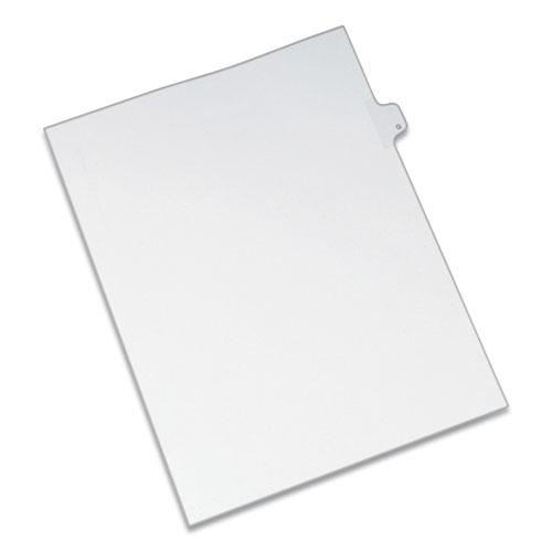 Preprinted Legal Exhibit Side Tab Index Dividers, Allstate Style, 26-Tab, G, 11 x 8.5, White, 25/Pack. Picture 1