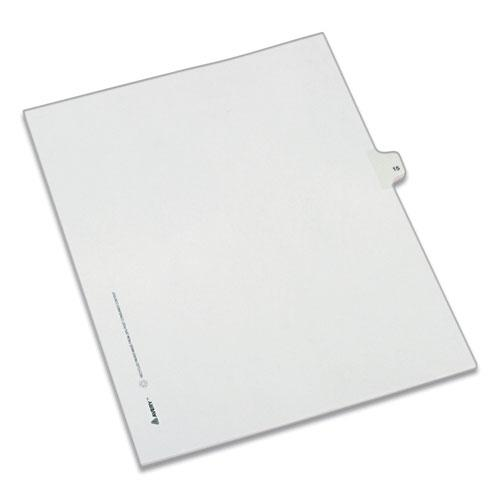 Preprinted Legal Exhibit Side Tab Index Dividers, Allstate Style, 10-Tab, 15, 11 x 8.5, White, 25/Pack. Picture 1