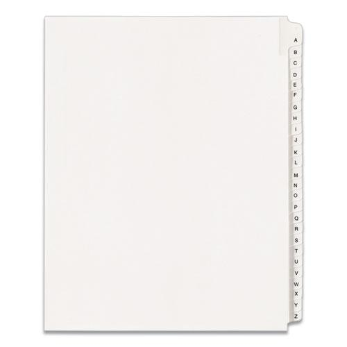 Preprinted Legal Exhibit Side Tab Index Dividers, Allstate Style, 26-Tab, A to Z, 11 x 8.5, White, 1 Set, (1700). The main picture.