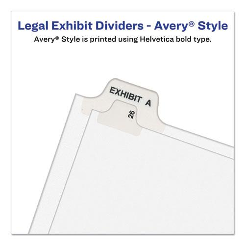 Preprinted Legal Exhibit Side Tab Index Dividers, Avery Style, 26-Tab, B, 11 x 8.5, White, 25/Pack, (1402). Picture 3